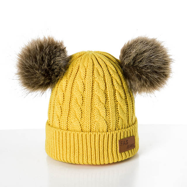 b1f1d5676 MOLIXINYU Baby Boys Girls Pom Poms Hat Children Winter Hat For Girls  Knitted Beanies Thick Baby Hat Infant Toddler Warm Cap