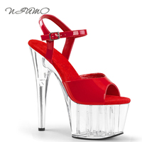 2017 New 15cm High Heel Sandals Wedding Shoes Silver Star Red Carpet Catwalk Dress Shoes Crystal