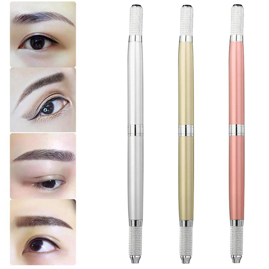 High Quality Beauty Eyebrow Embroidery Pen Microblading Tattoo Machine  Permanent Makeup Manual Pen Makeup Embroidered Pens -in Tattoo Guns from  Beauty ...