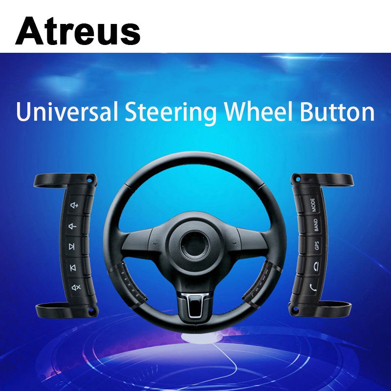 Atreus For VW polo passat b5 b6 Mazda 3 6 cx-5 Toyota corolla Ford focus 2 Car Wireless Control Steering Wheel Control System наклейки no 2 diy mazda vw