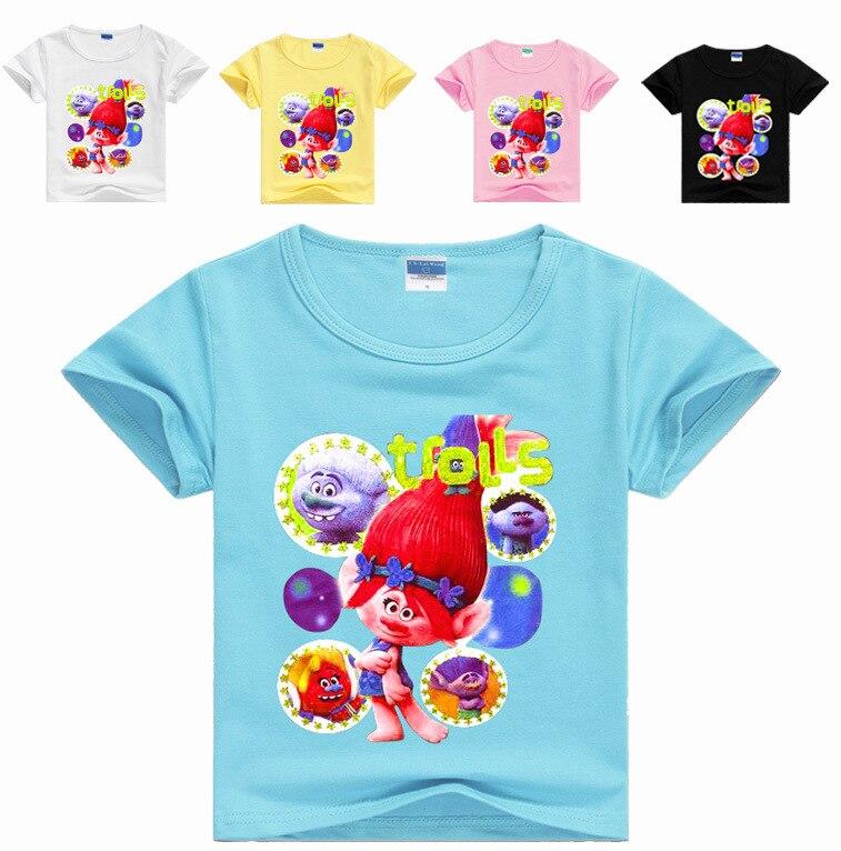 2-16Years Tiny Cottons 2018 Baby Boy Summer Dreamworks Trolls Party Kids Girls Clothes Boys T Shirt Jongens Boys Tshirts Fashion