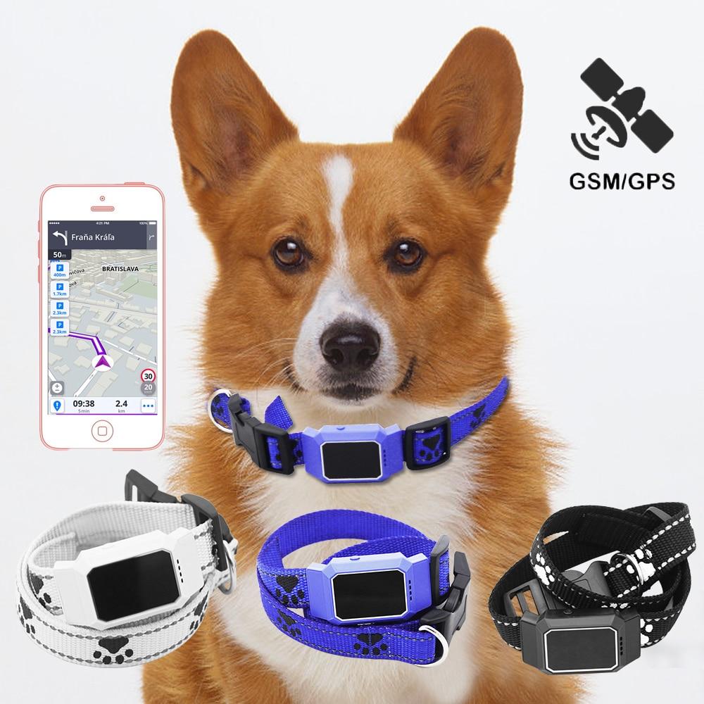 Smart GPS Tracker Dogs Collar Waterproof Locator GSM WiFi LBS Real time APP Pets Tracking Alarm