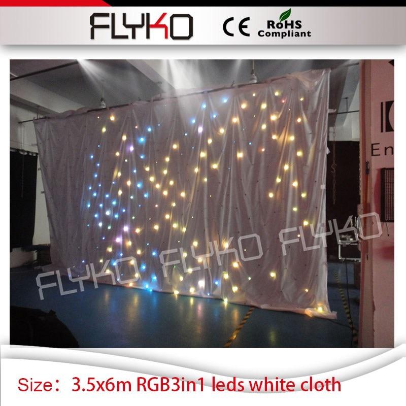 Светодиодный занавес звезды RGB3in1 светодиодный s для Свадебные украшения, рождественские Звезды Занавес 3,5 м * 6 м белый занавес