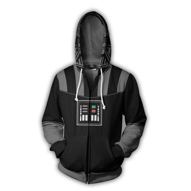 Film film Star Wars dark vador hommes sweats à capuche Cosplay Costume vestes fermeture éclair Hoded