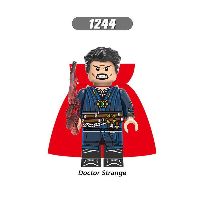 Single Sale LegoINGlys Super Heroes Avengers 4 Endgame Doctor Strange Black Widow Hawkeye Pepper Rocket Raccoon Block Toys Gifts