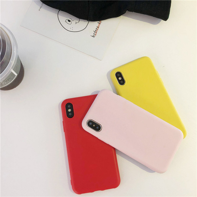 Simple Color Silicone Cute Phone Case For iPhone 2