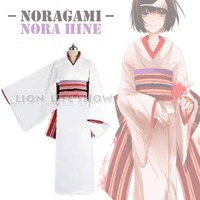 Anime Noragami Nora Hine Kimono Yukata Cosplay Costume With Headwear Hand Band