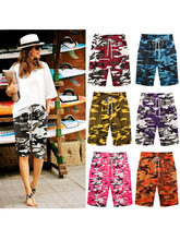 chothe summer female shorts thin outer wear large size women slacks Camouflage Casual pants harem beach