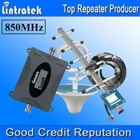 Lintratek 3G UMTS 850 MHz (bande 5) Repetidor 850 mhz LCD Affichage Mini Mobile Répéteur de Signal de Téléphone Cellulaire GSM 850 MHz Antenne *