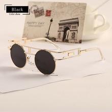 Pop Age Vintage Steampunk Sunglasses Women Men High quality Metal Steam Punk Fashion Gothic Sun Glasses Lunettes de solei Goggle
