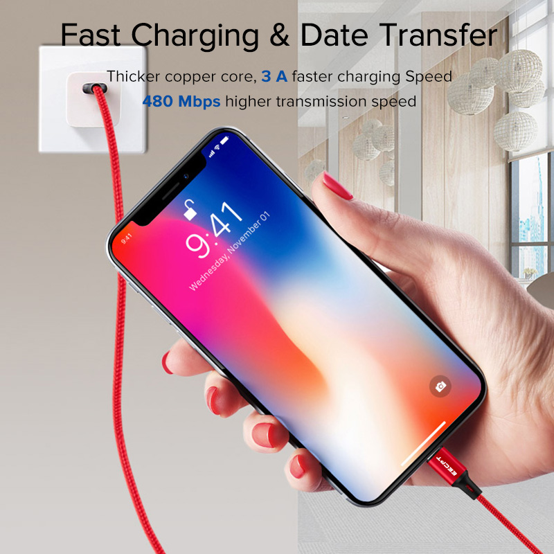 EECPT 3A USB Type C Cable for Samsung S9 S8 Fast Charging Wire Type C Phone Charger Cable for Xiaomi Redmi Note 7 Huawei P30 P20 in Mobile Phone Cables from Cellphones Telecommunications