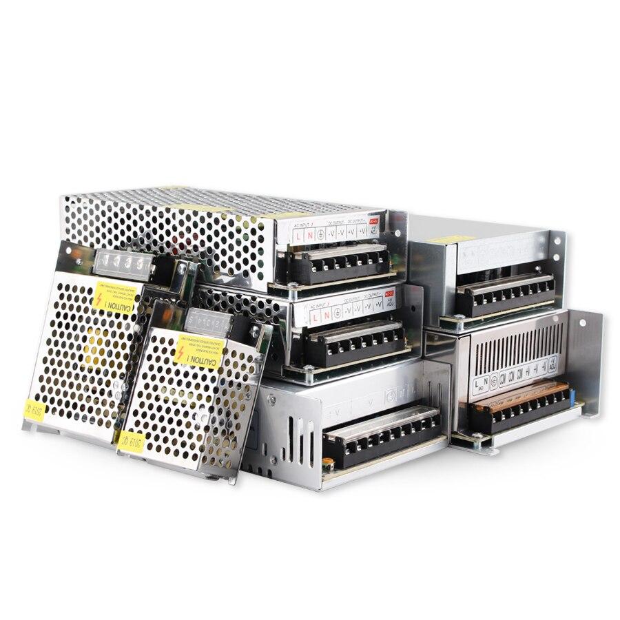AC-DC 5 v 12 v 24 v 36 v 48 v smps fonte de alimentação de comutação 5 v 12 v 24 3a 5a 10a 220v 110v 500w transformador 100 w 150 w 300 w 360 w w