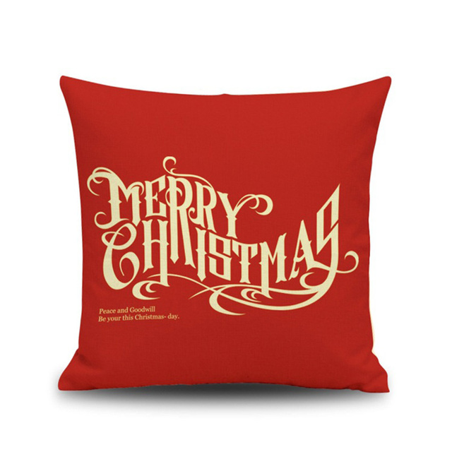 merry natal christmas decorations for home new year elk letter linen sofa car cushion pillowcase 45x45cm