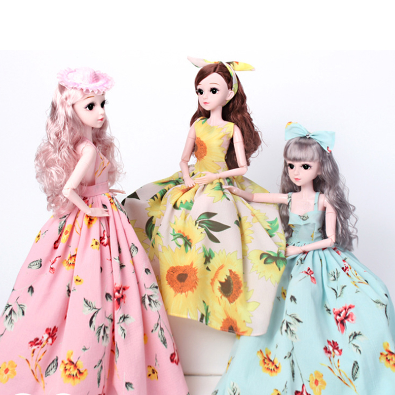 60cm 1 3 BJD Dolls Toys DIY Cute 18 Joints Toy Doll Set With Wigs Clothes