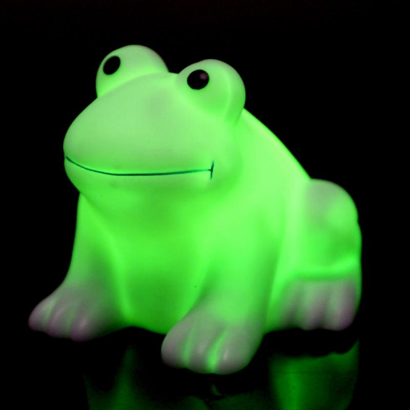 New Multi Colour Changing Night Light Cute Frog Children's Bedroom Small Light Home, Furniture & Diy Night Lights