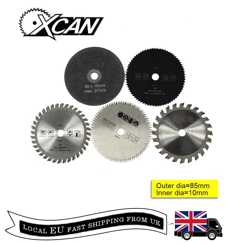 Free Shipping XCAN 5pcs 85*10mm Circular Saw Blade Set Wood Cutting Saw Blade Multifuncation TCT Cutting Disc
