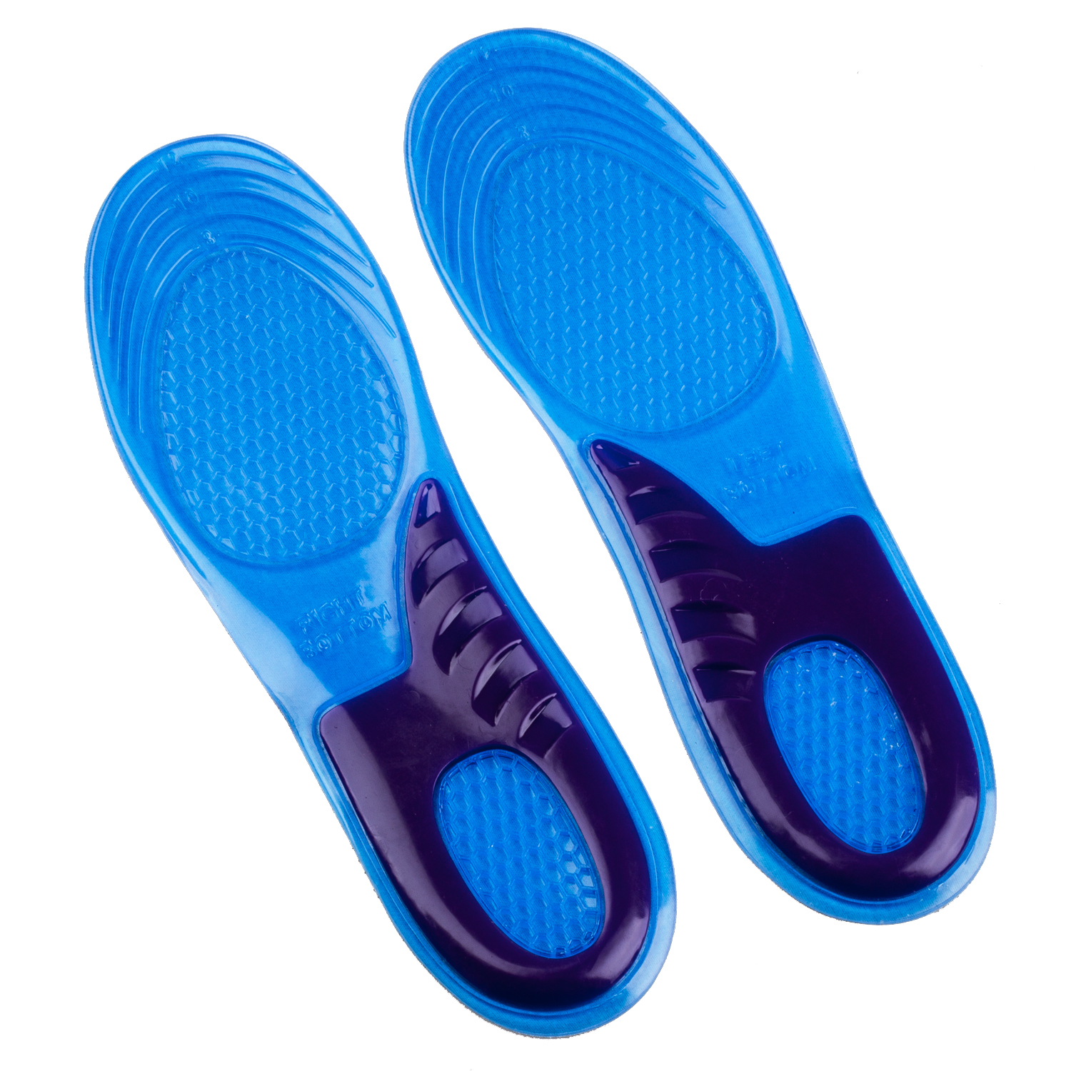 New Orthotic Arch Support Massaging Silicone Gel Insoles Sport Shoe Insole Run Pad Woman(size6-9 A0) & Man (sizes 8-12 B0) 4pcs silicone gel orthotic arch pad arch support insole flat foot relieve pain orthopedics insert new
