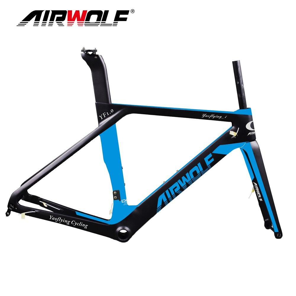 2018 Airwolf carbon road disc frame size in 49 52 54 56cm Bicicleta Carbon Bike Frame