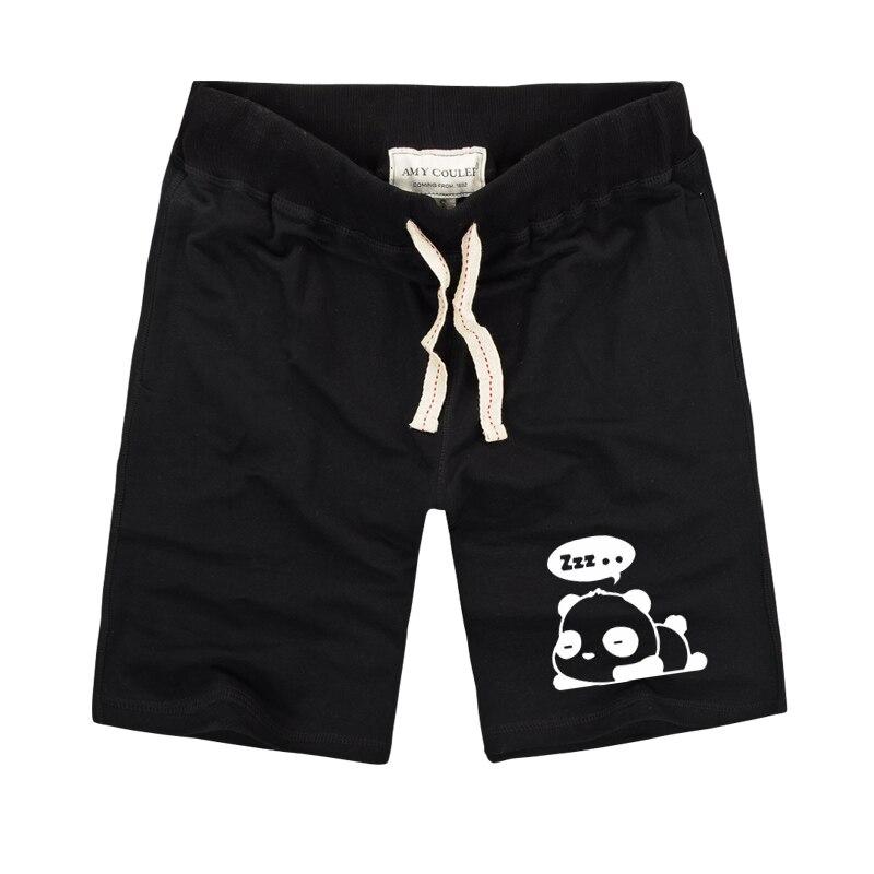 Harajuku Styles Unisex Cute Panda Impreso Pantalones cortos para - Ropa de hombre - foto 4