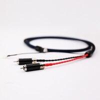 Выборг 5N OFC посеребренные Tonearm Cable Phono кабель с 2 родием углеродного волокна RCA Plug & Позолоченные 5 контактный разъем