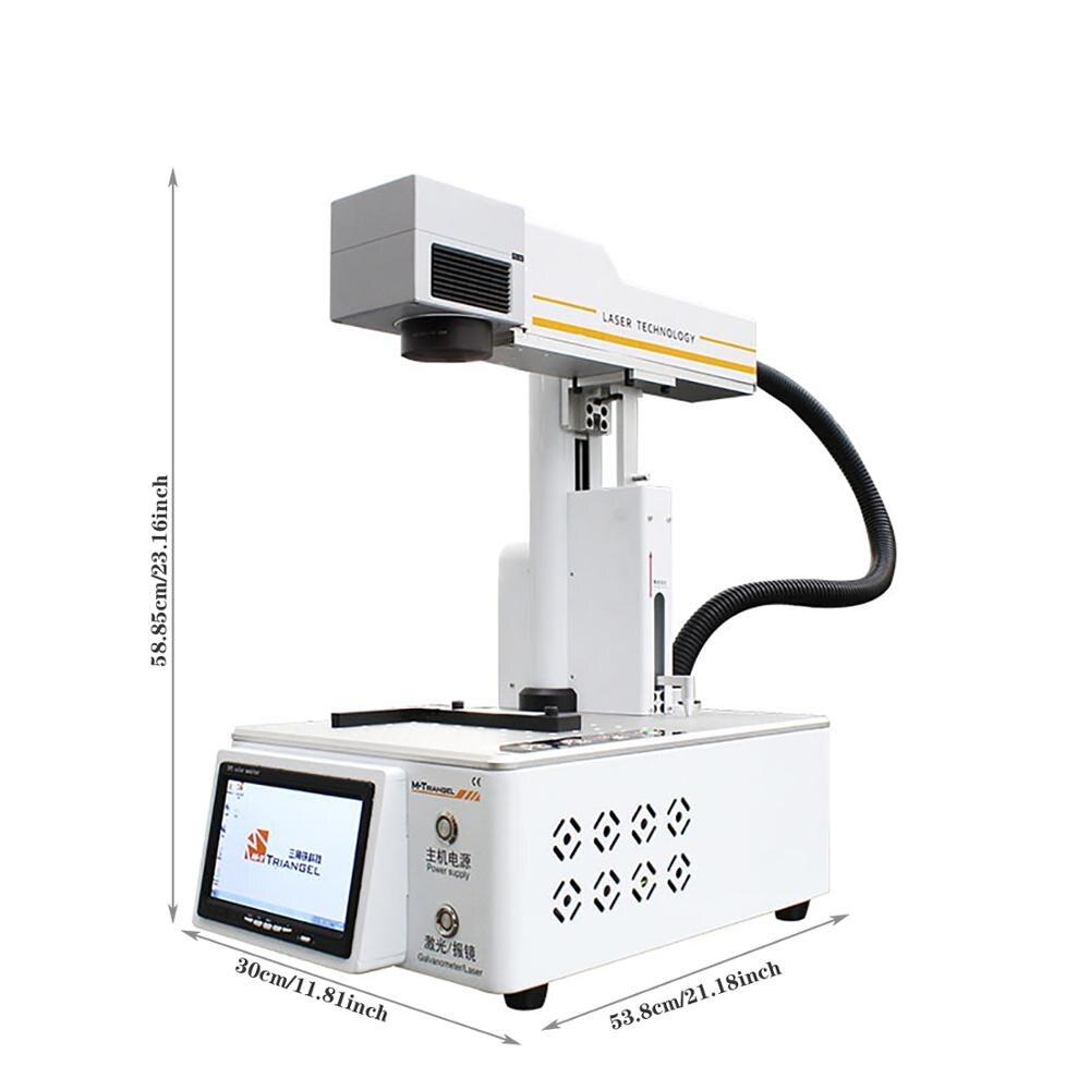M-Triangel 20 Вт волоконный лазерный гравер машина DIY ЖК-разделитель для кожи, стекла, металла, резки древесины компактный ЧПУ принтер гравер