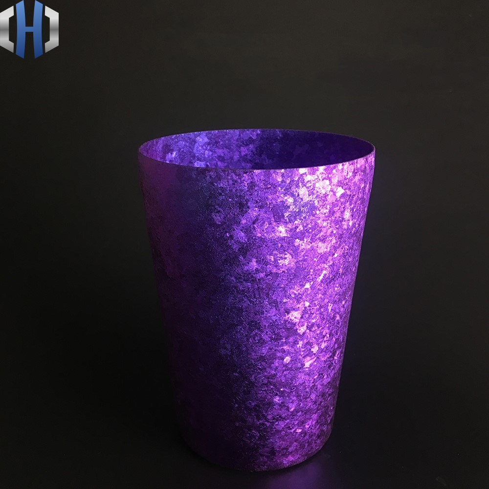 Pure Titanium Double layer Cup Ultra Light Colorful Wide Mouth Personality Creative Tea Cold Drink Gift Cup in Outdoor Tablewares from Sports Entertainment