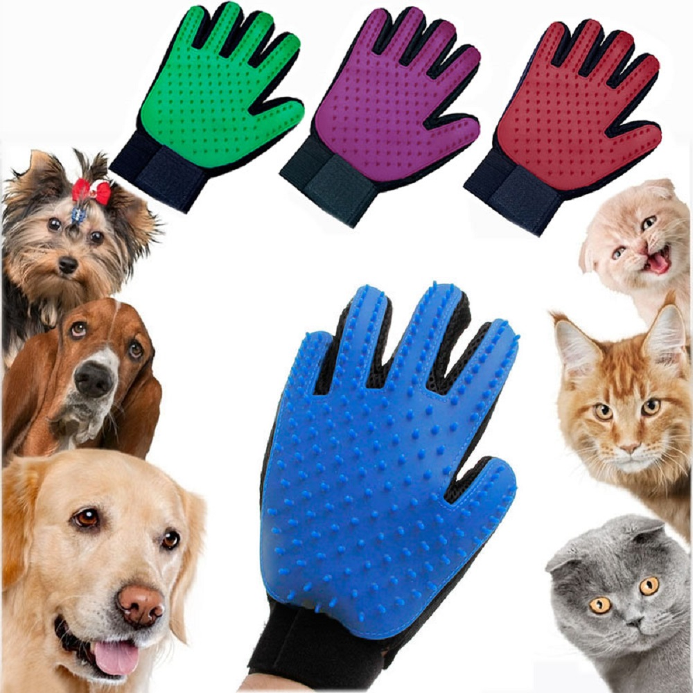 HTB1Ry8zTNnaK1RjSZFtq6zC2VXaD Pet Glove Cat Grooming Glove Cat Hair Deshedding Brush Gloves Dog Comb for Cats Bath Clean Massage Hair Remover Brush