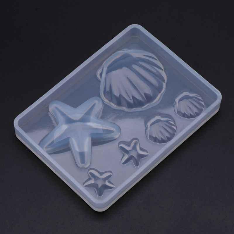 1 pc סיליקון עובש ים פגז כוכב ים DIY אפוקסי שרף תכשיטי ביצוע תליון קישוט מראה קריסטל מלאכת מתנות W15
