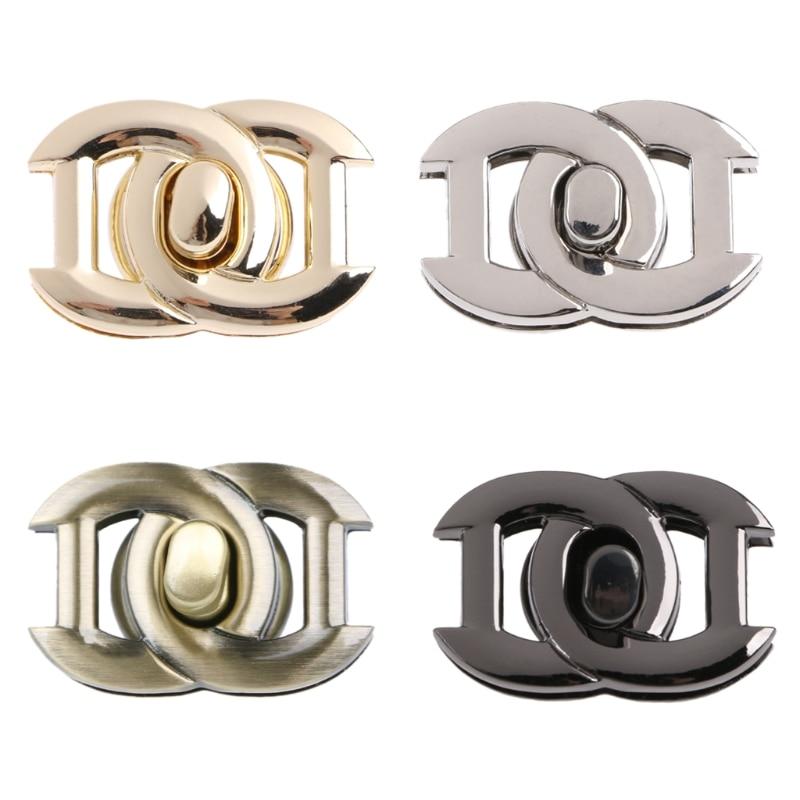 THINKTHENDO Metal Clasp Turn Lock Twist Locks For DIY Handbag Craft Bag Purse Hardware Tool