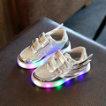 Bebé niños luminosos led shoes alas de ángel niños shoes girls danza shoes boys sports shoes kids led 2017 nuevo la zapatilla de deporte