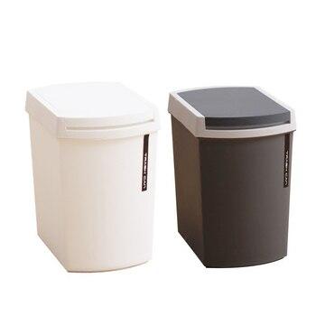 Nuevo Plástico Estilo A Presión Cubo De Basura Para El Hogar Diversos Tanques De Almacenamiento De Barril Baño Caja De Basura Cubo De Basura Para Cocina Papelera Para Vehículo