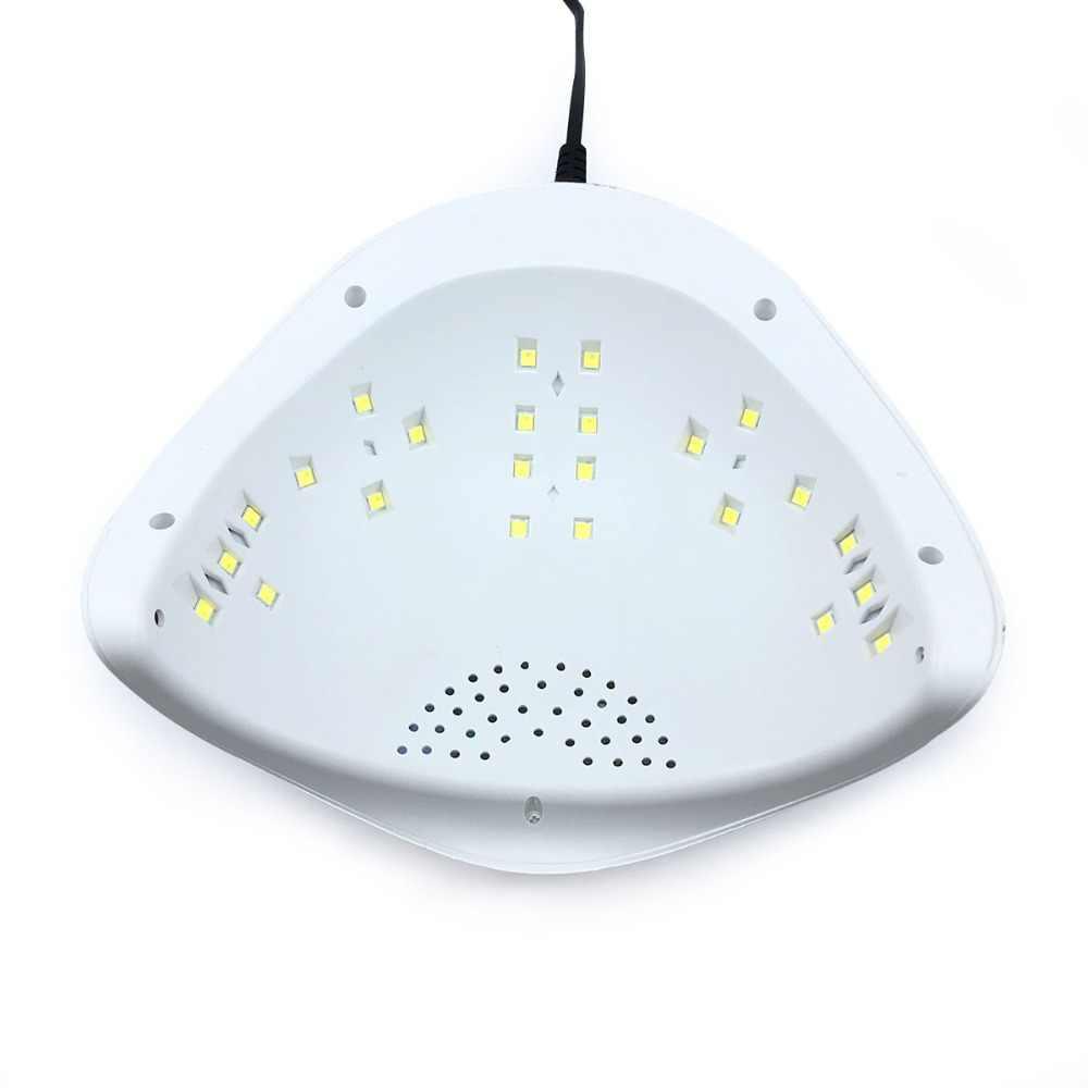 SUN5 Plus 48 Вт УФ светодиодный лак для ногтей лампа Сушилка для ногтей гель лак отверждения свет с нижней 30 s/60 s таймер ЖК-дисплей