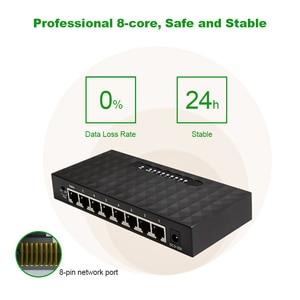 Image 5 - Commutateur Ethernet Gigabit, 8 ports, 10/100/1000 mb/s, rapide, commutateur intelligent Lan Hub, Full/semi duplex