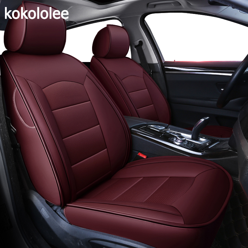 kokololee custom real leather car seat cover for Dodge Caliber Avenger JOURNEY Challenger Automobiles Seat Covers car seats