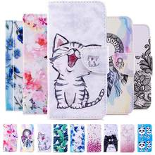 Redmi Note 7 PU Leather Phone Case For Xiaomi Painted for Pro Flip Cover Fundas Capa