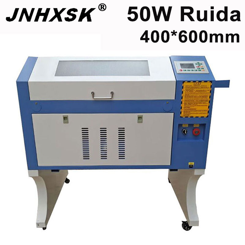JNHXSK 50w CNC 4060 Co2 Laser Engraving Cutter Machine Laser Marking Machine Ruida Control System Mini Laser Engraver CNC
