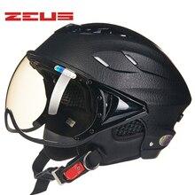Трещины dermatoglyph ZEUS 125B ABS пол-лица Мотоциклетный шлем летом электрический велосипед мотоцикл шлем УФ персонализированные