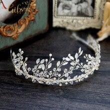Бесплатная доставка новый горный хрусталь свадьба Bridemaid девушки аксессуары для волос люкс тиара коронки повязка на голову