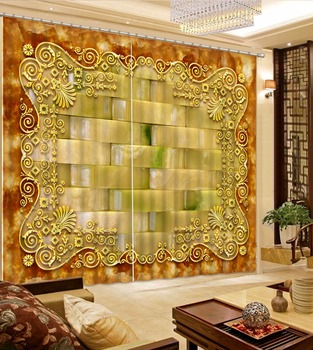 European Curtains Classic pattern Curtains For Window Living room Home Decoration The Bedroom Textile Drapes