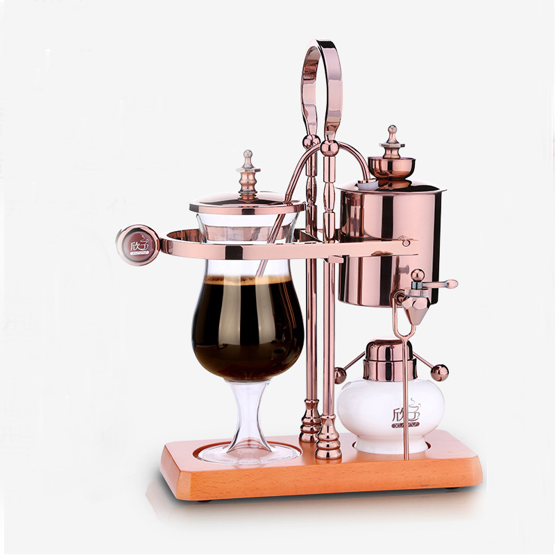 New design water drop Royal balancing siphon coffee machine belgium coffee maker syphon vacumm coffee brewer