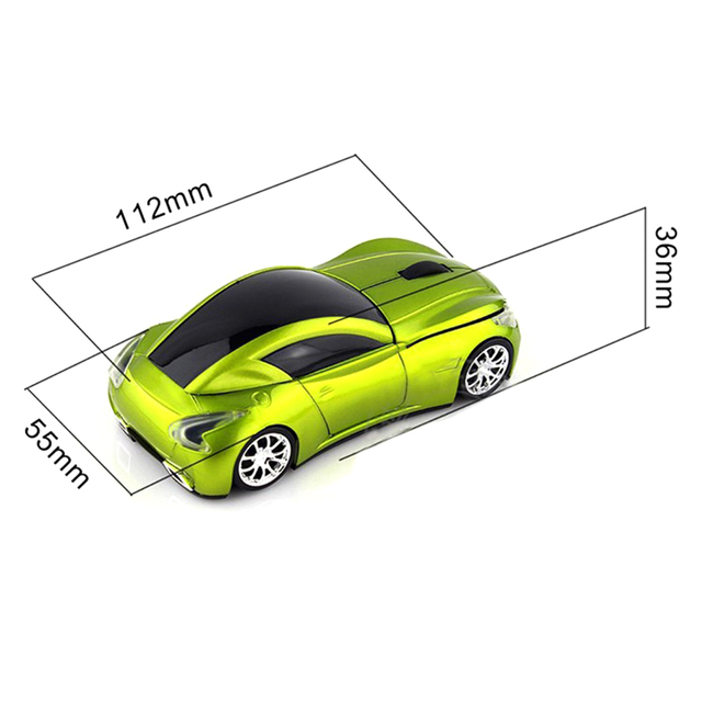 2015 Fashion Infiniti Sports Car 24GHz Wireless Mouse 1600DPI Optical Gaming Mouse Mice for Computer Black