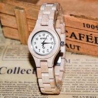 BEWELL Panie Zegarek Kwarcowy Mały Okrągły Dial Watch montre Prosty Styl horloges vrouwen Kobiety Drewna Zegarek relogio feminino 123A