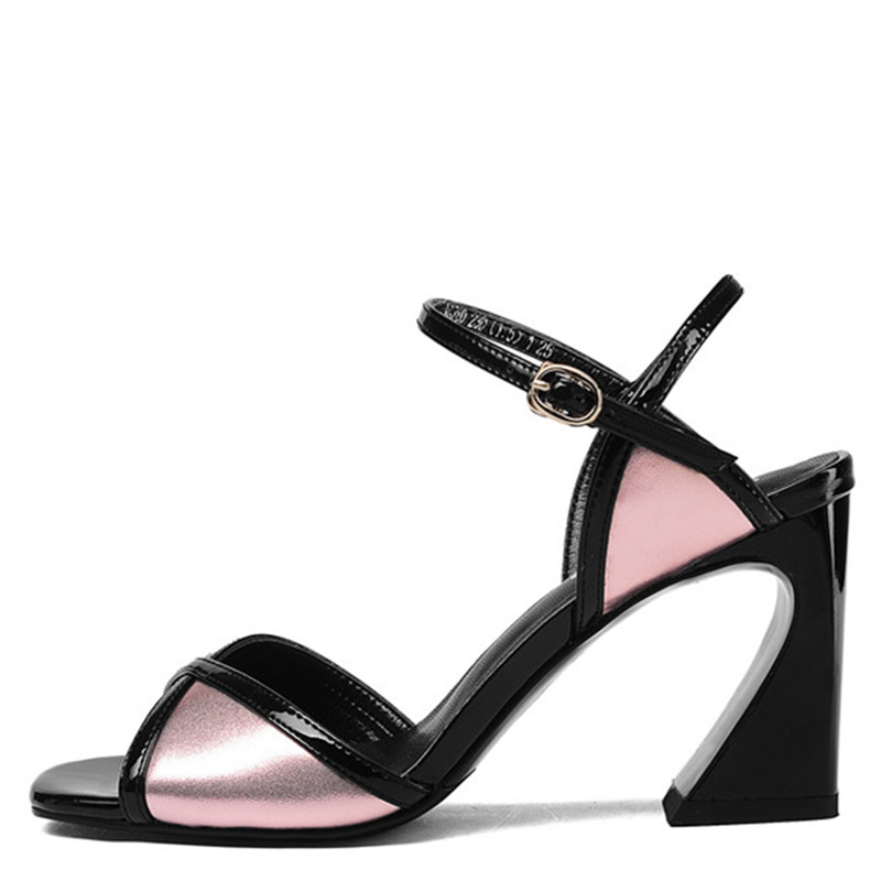 LOVEXSS Open Toe Genuine Leather Sandals Sexy Party White Pink Silver Ball Pumps Cow Leather Wedding Peep Toe High Heeled Shoes lovexss genuine leather sandals heel wedding party square toe black pink pumps high woman shoes plus size 33 43 sandals 2017