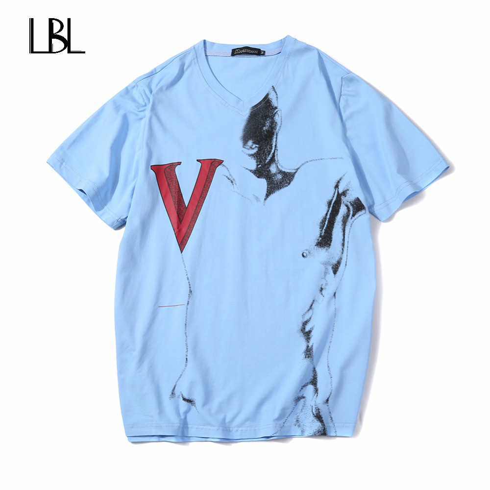 Europe Size Summer T Shirts Men Printed Camisetas Hombre Brand Clothing Men Tops Tees Shirts Cotton Men Casual Fashion T-Shirts
