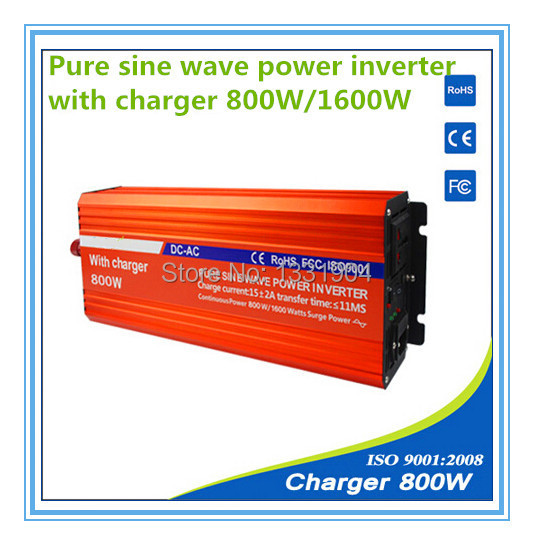 112V to 220V 800W Pure Sine Wave Power Inverter With Buildin Charger with Automatic Transfer for solar inverter, car inverter 1 lcd wired timer remote shutter release for canon eos 1ds mark ii more 1 x cr2025