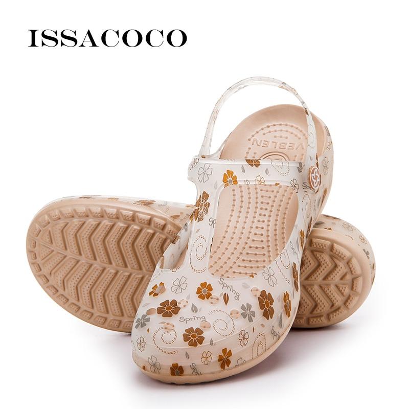 ISSACOCO New Sandals Women Shoes Woman Jelly Shoes Slippers Summer Shoes Sandalias Terlik Pantufa Sandales Femme 2018 Nouveau