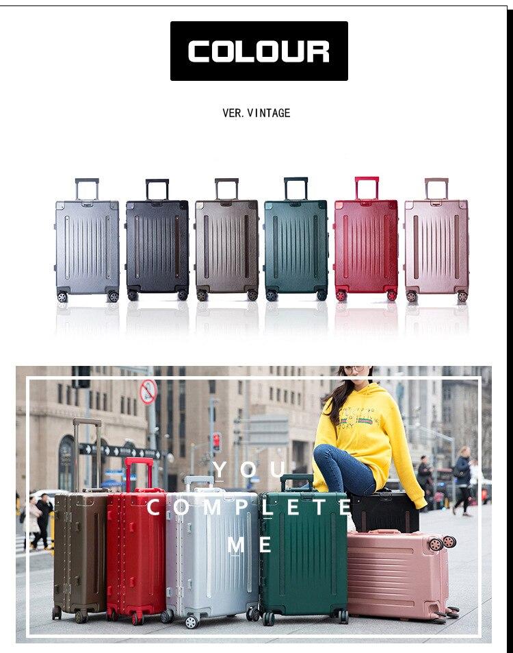 7d748f435db59 Yeni Sıcak Moda Kadın Arabası Bagaj Haddeleme Bavul Marka Casual Stripes  Haddeleme Durumda Tekerlekler üzerinde Çanta. 31 2 ...