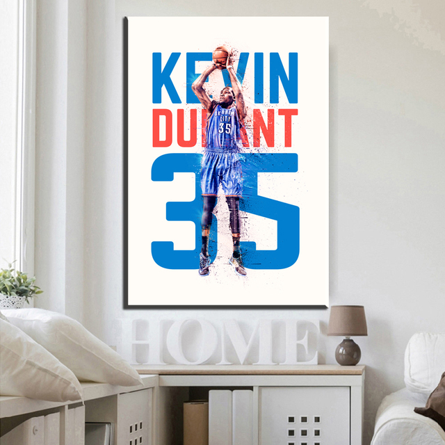 xdr251 Famous Basketball Star Kevin Durant Art canvas Poster Print ...