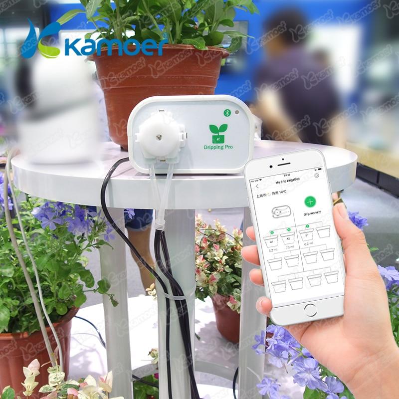 Kamoer Blueteeth controle Intelligente tuin Automatisch sproeisysteem apparaat Vetplanten planten Micro Drip Irrigatie timer systeem-in Bewateringskit van Huis & Tuin op  Groep 1