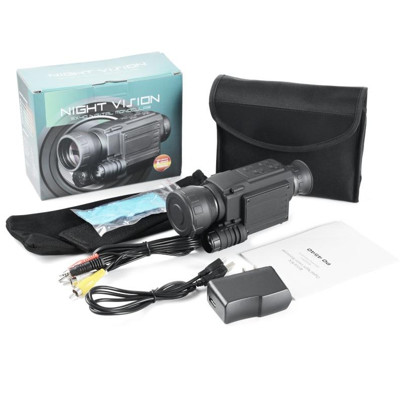 2019 mise à niveau infrarouge Vision nocturne monoculaire portée pour la chasse de nuit haute durée longue portée hd avec caméra intégrée prise de vue - 6